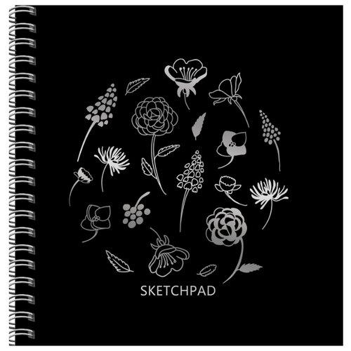 Скетчбук для зарисовок Канц-Эксмо Нежный гербарий 19.5 х 19.5 см, 200 г/м?, 20 л.Альбомы для рисования<br>