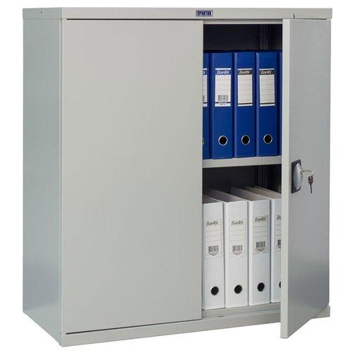Шкаф архивный ПРАКТИК СВ-11 85x40x93 см серый полуматовый (RAL 7038)