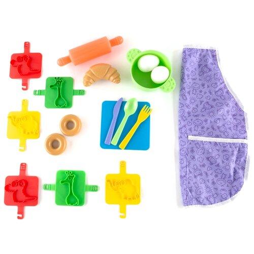 Купить Набор продуктов с посудой Пластмастер Пекарь 22036 разноцветный, Игрушечная еда и посуда