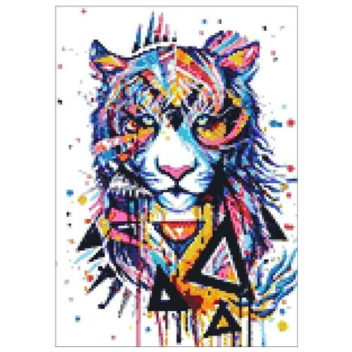 Фото - Гранни Набор алмазной вышивки Магический тигр (Ag 122) 27х38 см гранни набор алмазной вышивки радужный слон ag 482 27х38 см