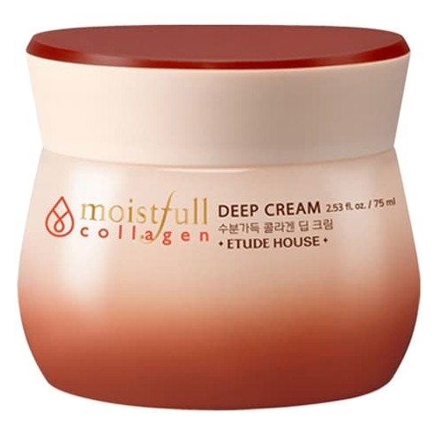 Etude House Moistfull Collagen Deep Cream Крем для лица увлажняющий