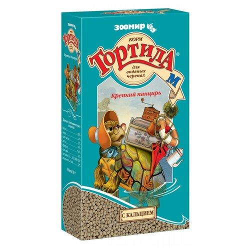 Сухой корм для рептилий Зоомир Тортила-М Крепкий панцирь для водяных черепах 90 г