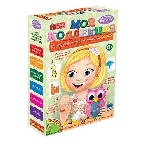 Купить BONDIBON Набор для шитья Игрушка из фетра Сова (ВВ1220), Изготовление кукол и игрушек