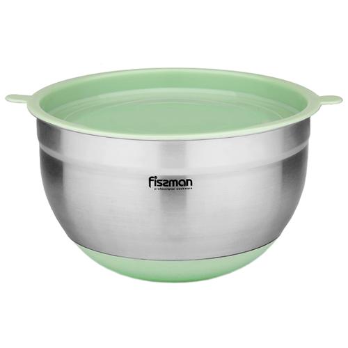 Миска Fissman 5112/5113 серебристый/зеленый