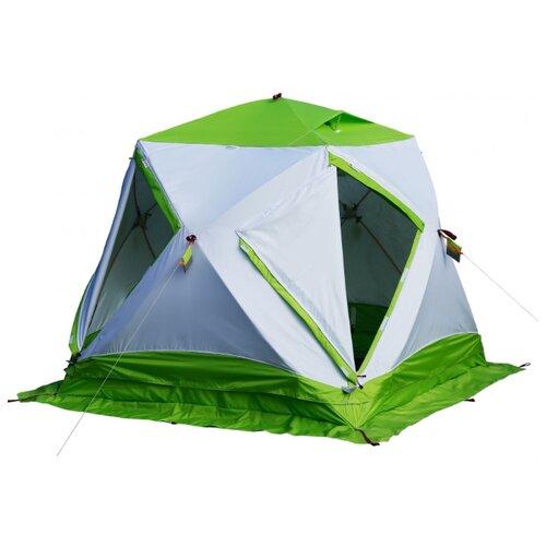 Палатка ЛОТОС Куб 3 Классик Термо белый/зеленый