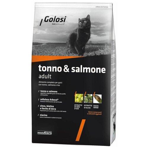 Сухой корм для кошек Golosi Tonno & Salmone Adult для взрослых кошек с тунцом, лососем и рисом 20 кг 20 кг сухой корм для кошек golosi с курицей с рисом 20 кг