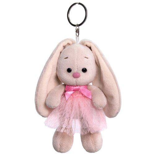 Игрушка-брелок Зайка Ми в розовой юбке и с бантиком 14 см