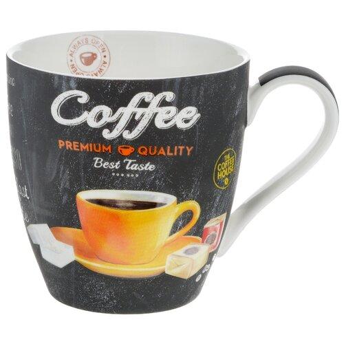 Easy Life Кружка Итальянский кофе 350 мл черный/желтый банка для кофе easy life время кофе 21 х 13 х 8 см
