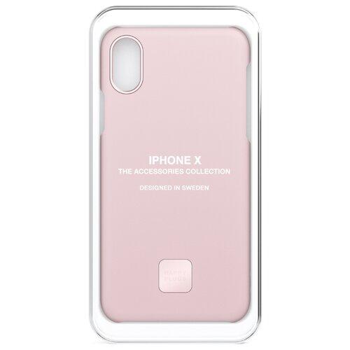 Чехол-накладка Happy Plugs 9165 + защитная пленка для Apple iPhone X/Xs blush чехол накладка happy plugs 9337 для apple iphone xs max botanica exotica