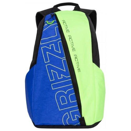 Рюкзак Grizzly RQ-910-1/4 9 (черный/лимонный) сумка женская grizzly цвет черный розовый 9 5 л md 621 2 1