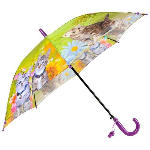 Зонт-трость полуавтомат детский Rain Lucky 920-1 LACN со свистком
