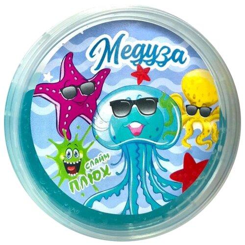 Лизун Плюх Медуза голубой