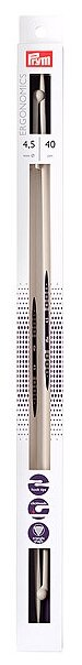 Спицы Prym полимерные Ergonomics (2шт) диаметр 4.5 мм, длина 40 см