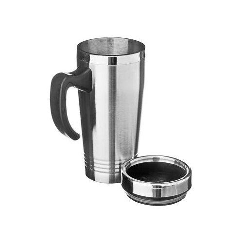Термокружка Satoshi Kitchenware 841-005, 0.45 л серебристый/черный