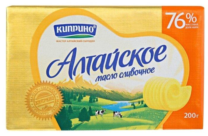 Киприно Масло сливочное Алтайское 76%, 200 г