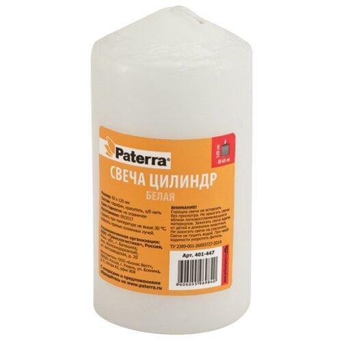 Свеча Paterra цилиндр 6*12 см белая