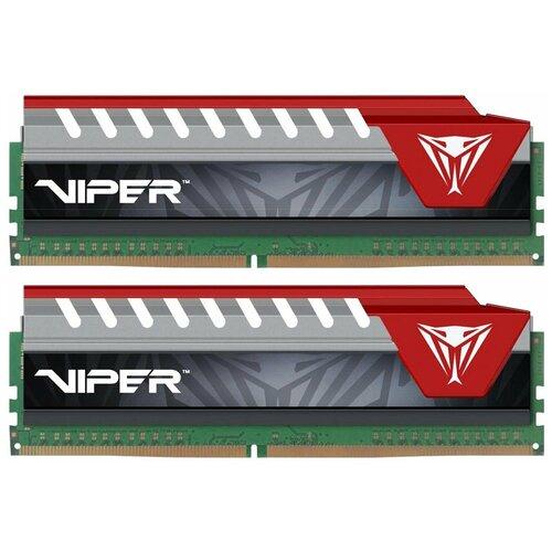 Фото - Оперативная память Patriot Memory 16GB (8GBx2) DDR4 2400MHz DIMM 288pin CL15 PVE416G240C5KRD оперативная память patriot memory sl 4gb ddr4 2133mhz dimm 288pin cl15 psd44g213381
