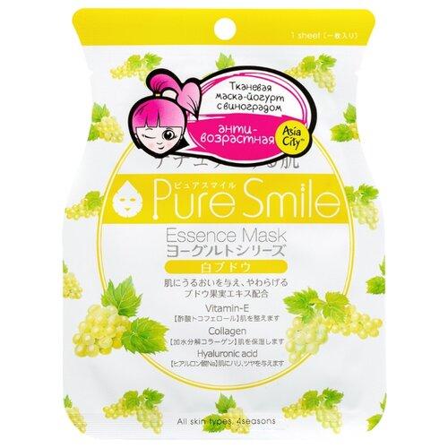 Sun Smile тканевая маска Pure smile Yogurt на йогуртовой основе с экстрактом белого винограда, 23 мл sun smile тканевая маска yogurt mask увлажняющая с экстрактом отрубей 23 мл