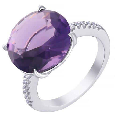 JV Кольцо с стеклом и фианитами из серебра SY-356178-R-KO-US-002-WG, размер 16 jv кольцо с стеклом и фианитами из серебра sy 356989 r ko 002 wg размер 16 5