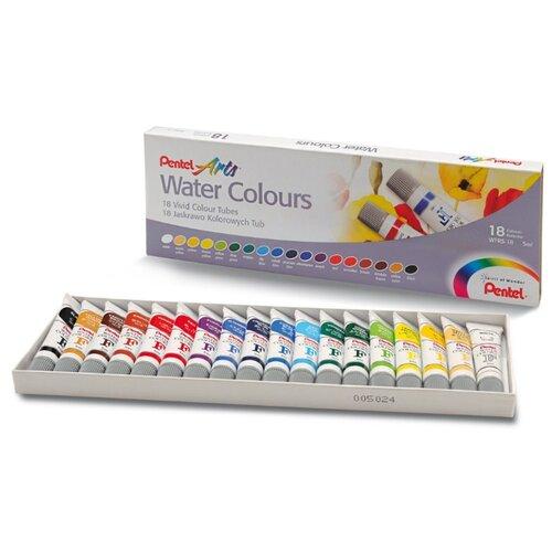 Pentel Акварель Arts Water Colours 18 цветов х 5 мл (WFRS-18) disney акварель 18 цветов самолеты