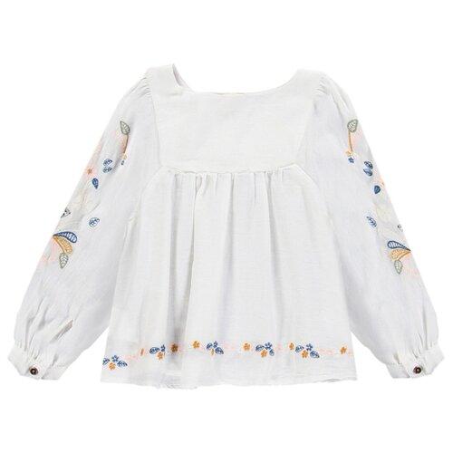 Купить Блузка Brums размер 5A (110), белый, Рубашки и блузы