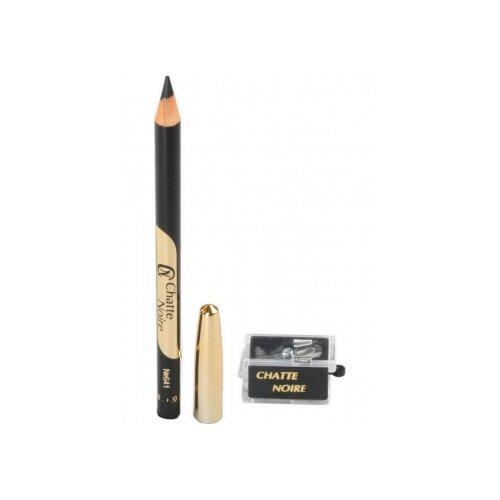 Chatte Noire Набор карандаш для глаз Kajal и точилка, оттенок №641 черный chatte noire карандаш для глаз 10