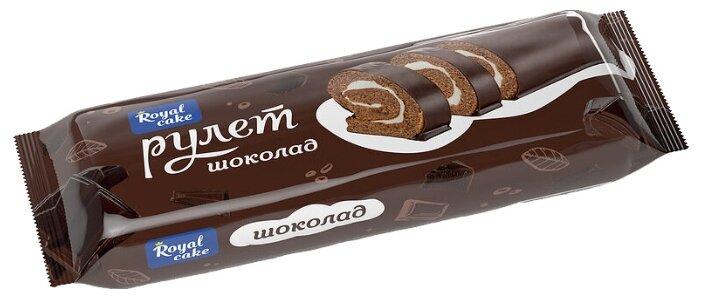 Рулет Royal Cake бисквитный глазированный со вкусом шоколада 200 г