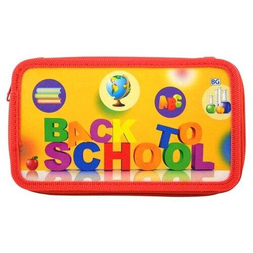 BG Пенал Школьная пора (П2_лк 4412) красный/оранжевый