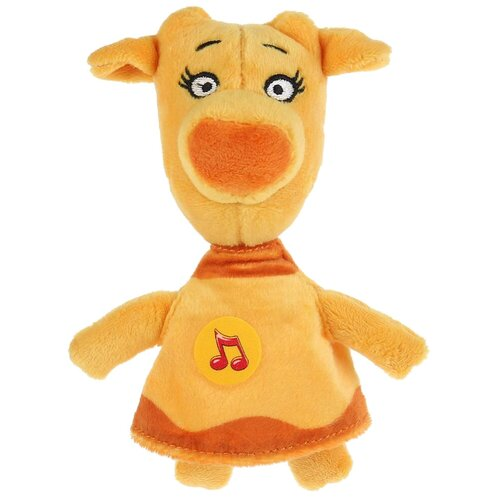 Мягкая игрушка Мульти-Пульти Оранжевая корова Корова Зо 18 см, музыкальный чип игрушка мягкая мульти пульти оранжевая корова собачка федя 21 см музыкальный чип в пакете c20018 21 48