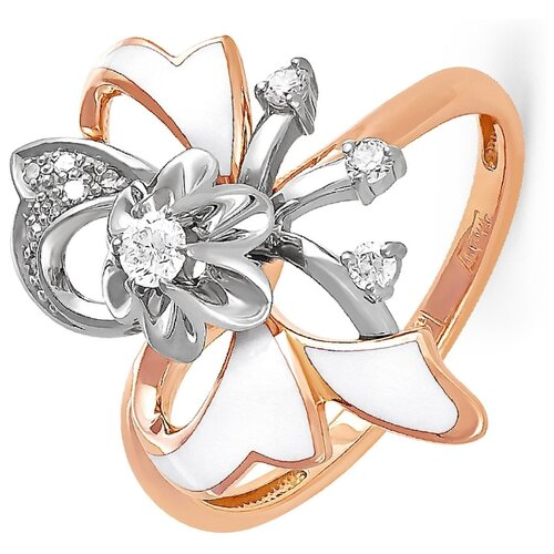 KABAROVSKY Кольцо с 11 бриллиантами из красного золота 11-0491-1010, размер 18 kabarovsky кольцо 11 21151 2302 размер 18
