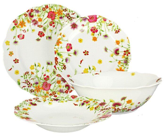 Столовый сервиз Domenik Meadow 19 предметов DM9373 белый/цветы