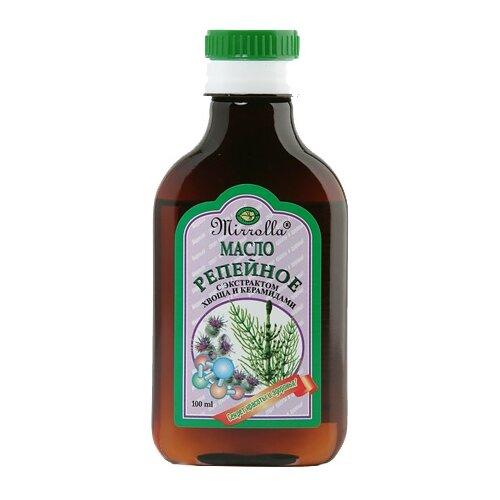 Фото - Mirrolla Репейное масло с экстрактом хвоща и керамидами, 100 мл oleos масло репейное с экстрактом красного перца 100 мл oleos масло репейное
