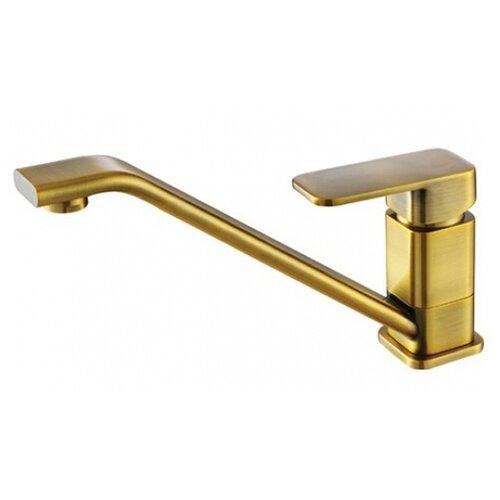 Фото - Смеситель для кухни (мойки) KAISER Sonat 34033-1 antique brass однорычажный латунь смеситель для кухни мойки kaiser sonat 34044 5 однорычажный