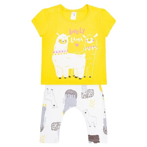 Фото - Комплект одежды crockid размер 86, желтый комплект одежды клякса размер 86 желтый