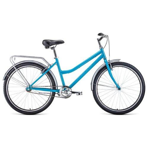 цена на Городской велосипед FORWARD Barcelona 26 1.0 (2020) голубой 17