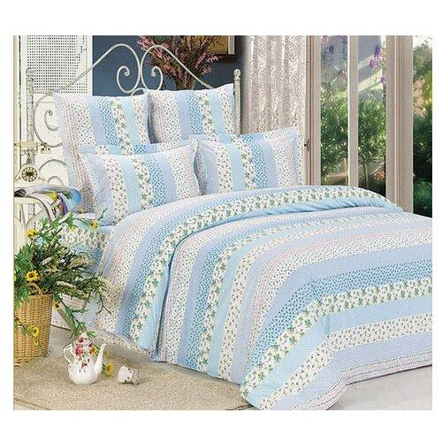 Постельное белье 2-спальное СайлиД A-97, поплин голубой постельное белье сирень постельное белье 2 спальное кпб сайлид