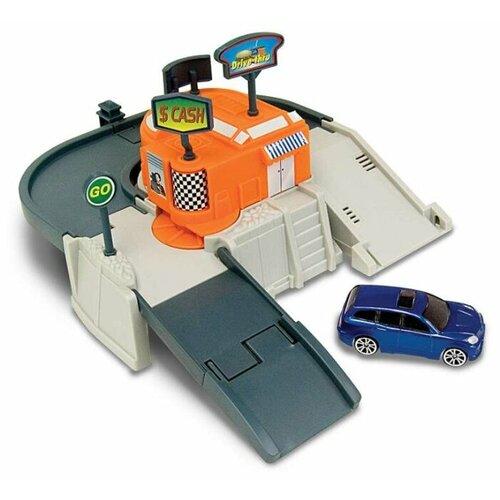 Купить Autotime (Autogrand) Игровой набор Megapolis: Автокафе 76748W оранжевый/белый/серый, Детские парковки и гаражи
