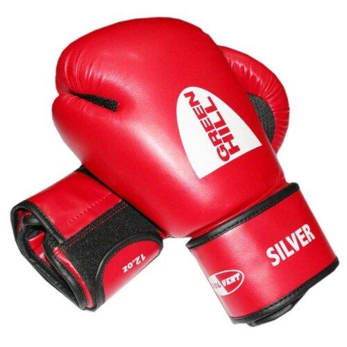 Боксерские перчатки Green hill Silver (BGS-2039) красный 12 oz