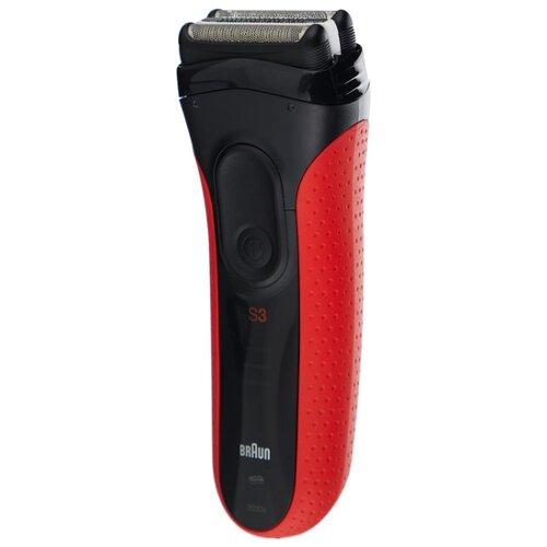 Электробритва Braun 3030s Series 3 ProSkin черный/красный