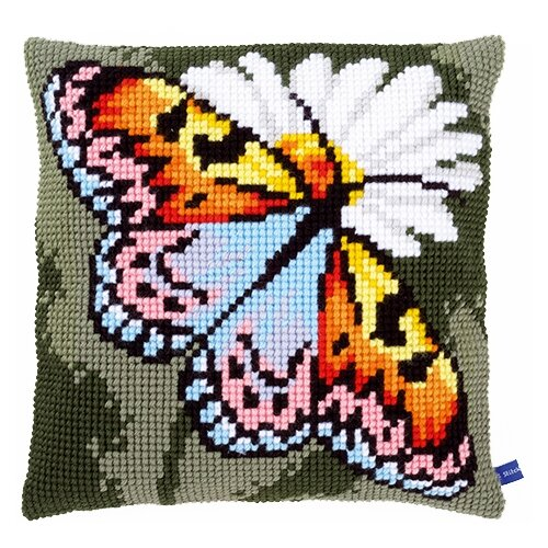 Купить Vervaco Набор для вышивания Бабочка 40 х 40 см (0155050-PN), Наборы для вышивания