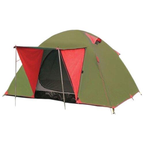 Палатка Tramp LITE WONDER 3 зеленый/красный палатка tramp lite twister 3