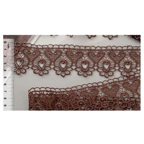 Купить Кружево гипюр KRUZHEVO TR 808 шир.45мм цв.24 т.коричневый уп.9м, Декоративные элементы