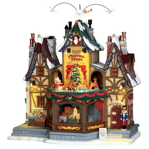Фигурка Lemax Рождественский магазинчик 32 х 29.5 х 18 см коричневый/зеленый/серый по цене 19 239