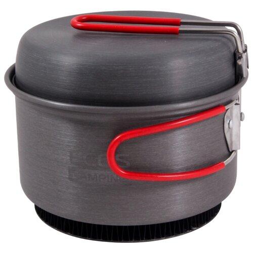 Набор туристической посуды ECOS CW012, 2 шт. черный/красный