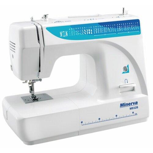 Швейная машина Minerva M832B, белый/голубой швейная машина minerva f 832 b