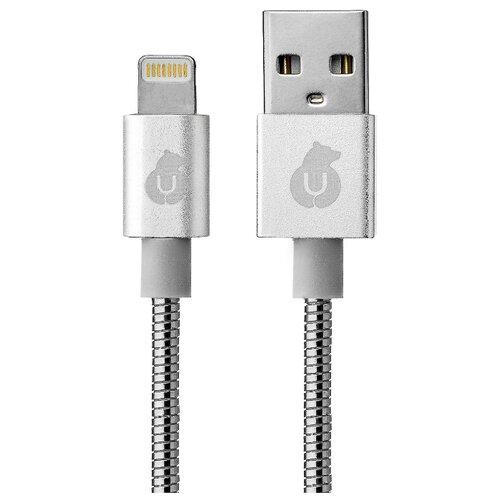 Купить Кабель uBear Kevlar metal USB - Lightning (DC06) 1.2 м серебристый