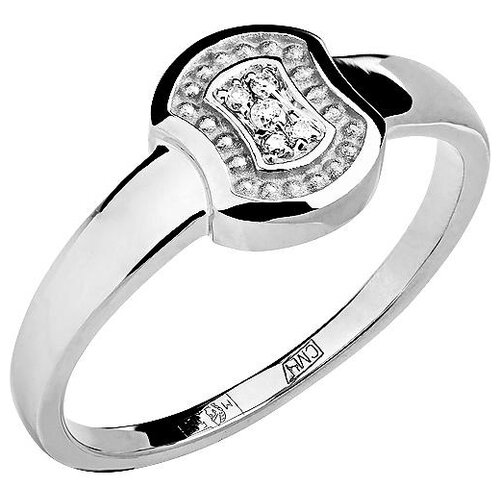 Эстет Кольцо с 5 бриллиантами из белого золота 01К628750, размер 16.5