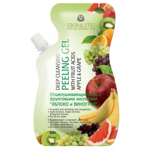 Skinlite гель для лица Отшелушивающий с фруктовыми кислотами Яблоко и виноград 50 г пластыри для лица skinlite skinlite sk009lwboaw3