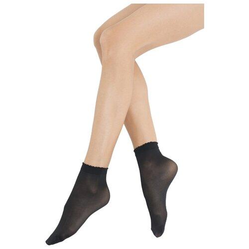 Капроновые носки Omsa Calzino Easy Day 40 den, 2 пары, размер 0 (one size), nero