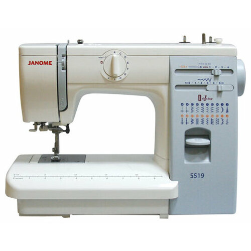 Швейная машина Janome 419S / 5519, бело-голубой швейная машина janome vs 54s бело сиреневый